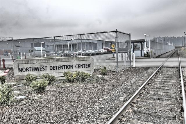 A photo of immigraiton detention center