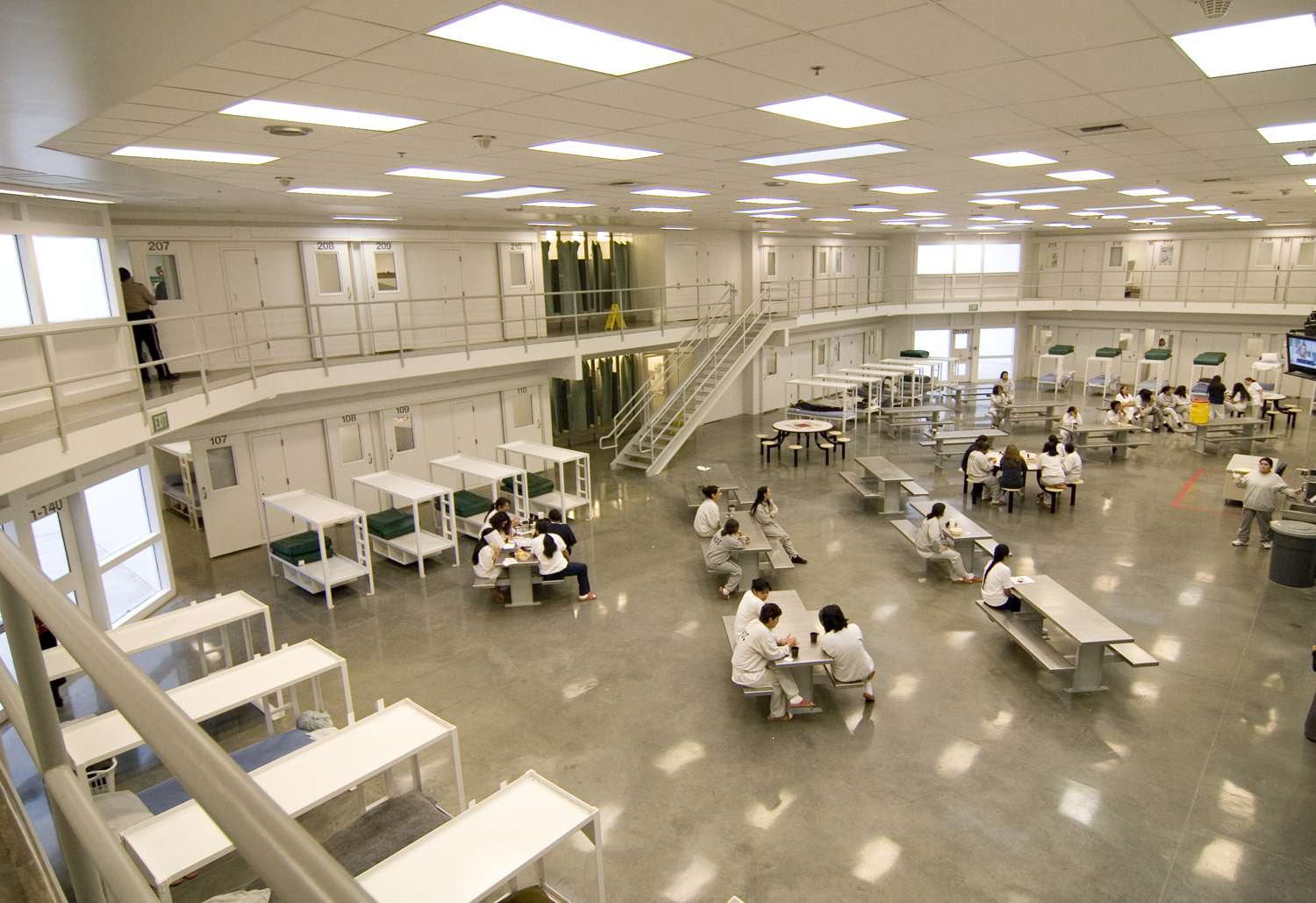 A photo of immigration detention center